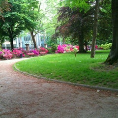 Photo taken at Parc Roger Salengro by Elizabeth B. on 5/19/2013