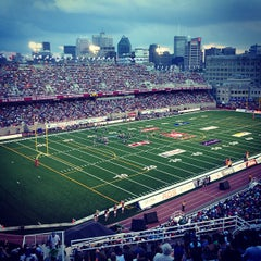 Photo taken at Stade Percival-Molson Memorial Stadium by Guillaume B. on 7/5/2013