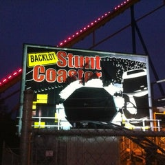 Photo taken at Backlot Stunt Coaster by Jan A. on 9/30/2012
