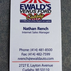 Photo taken at Ewald's Venus Ford by Nate R. on 7/29/2014