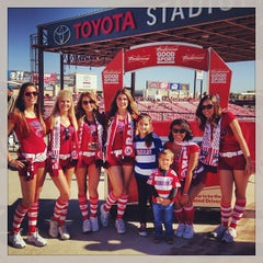 Photo taken at Toyota Stadium by Rafik F. on 10/19/2013