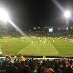 Photo taken at Territorio Santos Modelo Estadio by DaVo B. on 1/30/2016