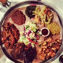 Photo taken at Demera Ethiopian Restaurant by Jake W. on 12/8/2012