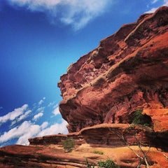 Photo taken at Red Rocks Park & Amphitheatre by Travis S. on 7/13/2013