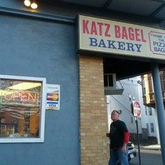 Photo taken at Katz Bagel Bakery by Thomas on 11/18/2012