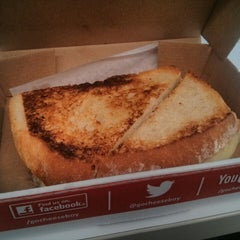 Photo taken at Cheeseboy: Grilled Cheese To Go by Enig M. on 4/25/2014