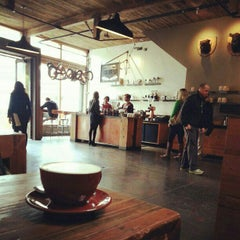 Photo taken at Four Barrel Coffee by Anne W. on 10/12/2012