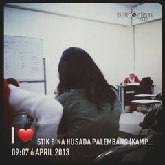 Photo taken at STIK Bina Husada Palembang (Kampus B) by putrii s. on 4/6/2013