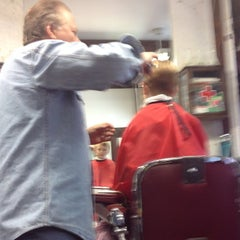 Photo taken at Park Slope Barbers by Alistair W. on 10/13/2012