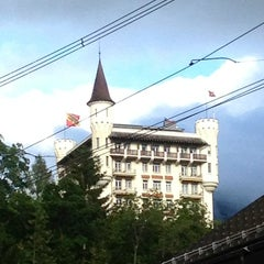Photo taken at Gstaad Palace Hotel by Nicolas B. on 7/15/2012