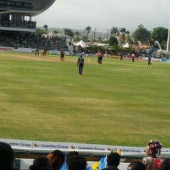 Photo taken at Kensington Oval by Rohan P. on 6/27/2015
