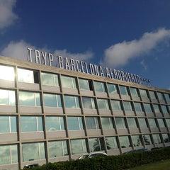 Photo taken at Hotel Tryp Barcelona Aeroport by Ekaterina K. on 6/3/2013