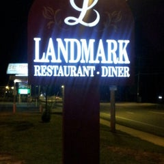 Photo taken at Landmark Diner by jean j. on 9/22/2012