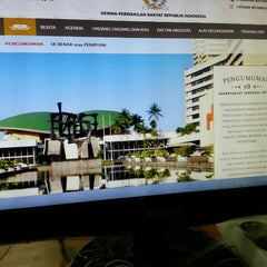 Photo taken at Gedung Nusantara I by Wiranto U. on 11/7/2014