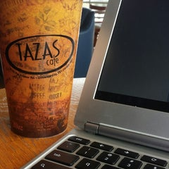 Photo taken at Tazas Coffee by Katie D. on 10/9/2014