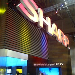 Photo taken at The Sharp Electronics Booth # 10916 by @VegasBiLL on 1/11/2013