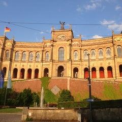 Photo taken at Bayerischer Landtag by Vitaliy on 7/11/2013