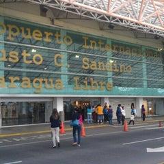 Photo taken at Aeropuerto Internacional Augusto C. Sandino by Luis Agustín B. on 1/10/2013