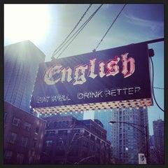 Photo taken at English Bar & Restaurant by David M. on 4/4/2013