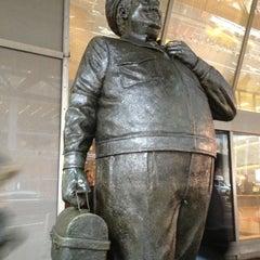 Photo taken at Ralph Kramden Statue by Abby S. on 2/11/2013