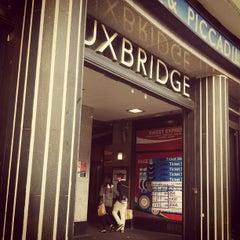 Photo taken at Uxbridge London Underground Station by Brigid H. on 4/14/2013