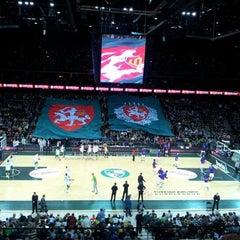 Photo taken at Žalgirio Arena   Zalgiris Arena by Jonas J. on 1/17/2013