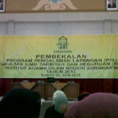Photo taken at Institut Agama Islam Negeri (IAIN) Surakarta by Missfranita26 on 6/29/2013