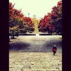 Photo taken at Fort Greene Park by Rafael M. on 11/2/2012