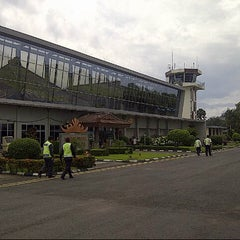 Photo taken at Bandara Radin Inten II Lampung Selatan (TKG) by Omar S. on 2/19/2013