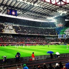 "Photo taken at Stadio San Siro ""Giuseppe Meazza"" by Andrea S. on 3/30/2013"