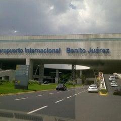 Photo taken at Aeropuerto Internacional de la Ciudad de México (MEX) by Fidel C. on 7/19/2013