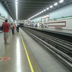 Photo taken at Metro Irarrázaval by Javiera M. on 2/8/2013