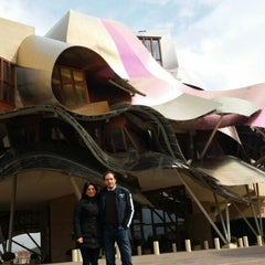 Photo taken at Hotel Marqués de Riscal by Cristina T. on 3/15/2015