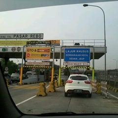 Photo taken at Gerbang Tol Pasar Rebo by Agus A. on 11/5/2012