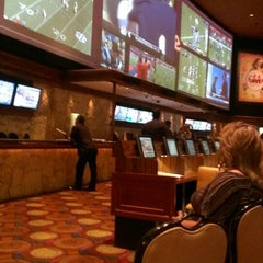 Photo taken at The Mirage Race & Sports Book by Ande C. on 9/21/2013