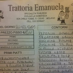 Photo taken at Trattoria Emanuela by Marco Bubble B. on 3/20/2013