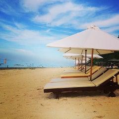 Photo taken at Pantai Pandawa (Pandawa Beach) by Денис on 4/2/2013