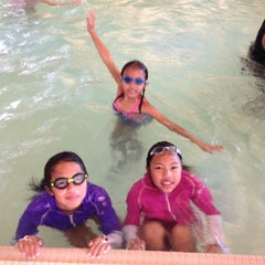 Photo taken at Silliman Family Aquatic Center by Angelina S. on 8/11/2014