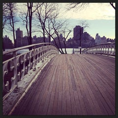 Photo taken at Central Park - Gothic Bridge by Maggie W. on 12/28/2013
