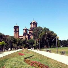 Photo taken at Tašmajdanski park by Dejan L. on 7/22/2013