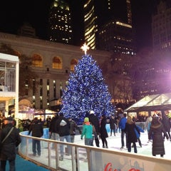 Photo taken at Bank of America Winter Village at Bryant Park by Larry on 12/6/2012