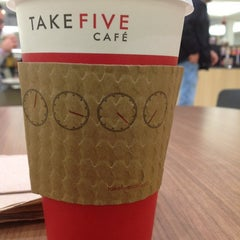Photo taken at Take Five Cafe Richmond Centre by Francis S. on 12/7/2012