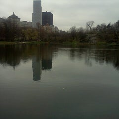 Photo taken at Central Park - Harlem Meer by Juan S. on 4/11/2013