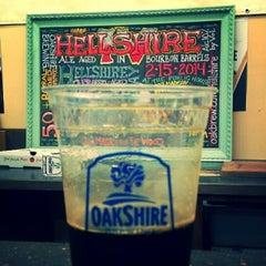 Photo taken at Oakshire Brewing by Scoreboard on 2/16/2014