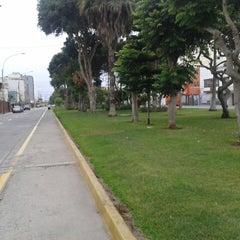 Photo taken at Parque Gonzales Prada by Veronica M. on 2/9/2014