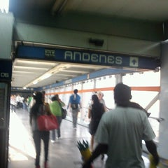 Photo taken at Metro Viaducto (Línea 2) by Rosa on 10/16/2012