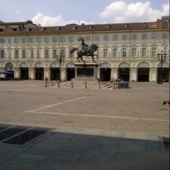 Photo taken at Piazza San Carlo by Gianluca F. on 7/7/2013