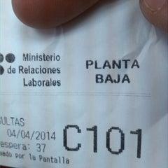 Photo taken at Ministerio de Relaciones Laborales by Proaño I. on 4/4/2014