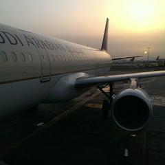 Photo taken at King Abdulaziz International Airport (JED) مطار الملك عبدالعزيز الدولي by Abdullah T. on 5/18/2013