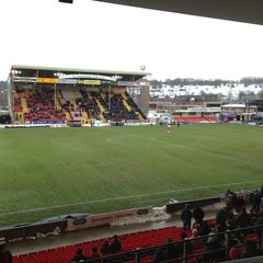 Photo taken at Sincil Bank Stadium-Lincoln City Football Club by Tom L. on 1/26/2013